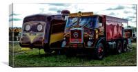 Vintage Fair Wagons at Dorset Steam Fair, Canvas Print