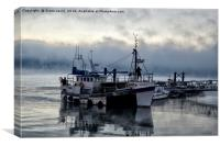 A Frosty Mornings Fishing, Canvas Print