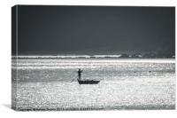 Bintan Fisherman, Canvas Print