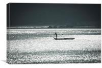 Silver Seas Fishing, Canvas Print