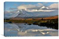 the Blackmount from Loch Ba                       , Canvas Print
