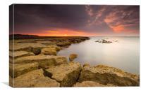 Whitecliffe Bay Sunrise, Canvas Print