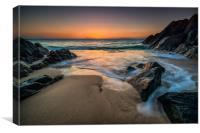 Porthgwidden beach St Ives, Canvas Print
