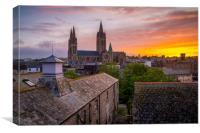 Truro cathedral at dawn, Canvas Print