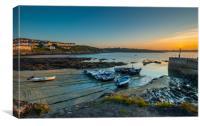 Porthscatho harbor at dawn, Canvas Print