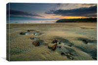 Low tide at Perranporth, Canvas Print