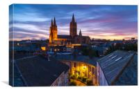 Beautiful contrasts at Truro cathedral, Canvas Print