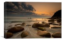Porth Nanven sunset , Canvas Print