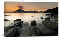 Elgol and the Cuillin mountains at sunset, Canvas Print