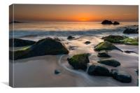 A grand morning at Porthgwidden beach, Canvas Print