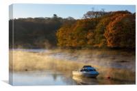 Autumn dawn mooring Coombe, Canvas Print