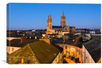 Truro Cathedral Dawn, Canvas Print