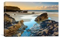Carne beach and Nare Head, Canvas Print