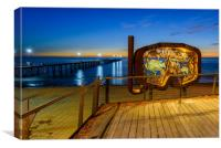 Beach graphic Port Noarlunga,  Adelaide South Aust, Canvas Print