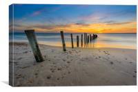 Sunset at Seaford Adelaide SA, Canvas Print