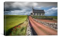 Boarhill Church, Fife , Scotland, Canvas Print