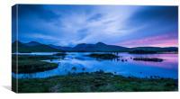 Midsummer at Lochan na h-achlaise, Canvas Print