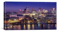 St Pauls Cathedral by night, Canvas Print