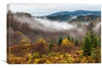 Misty morning on Dukes Pass, Canvas Print
