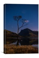 Buttermere by Starlight, Canvas Print