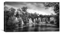 Kravice Waterfalls, Canvas Print