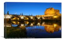 Castel San'tAngelo by the River, Canvas Print