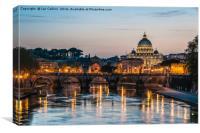 Tiber Sunset, Rome, Canvas Print