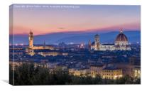 The Duomo and Palazzo Vecchio, Florence, Canvas Print