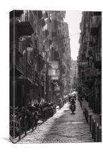 Naples Side Street, Canvas Print