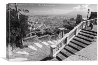 Path Down to the City Centre, Naples, Canvas Print