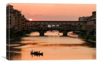 Ponte Vecchio Sunset, Florence, Canvas Print