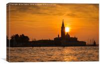 San Giorgio Maggiore at Sunset, Venice, Canvas Print