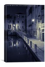 Fondamenta di Borgo, Venice, Canvas Print
