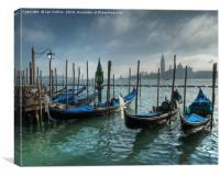 Gondolas, Venice, Canvas Print