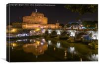 Castel Sant'Angelo on a Summer Night, Canvas Print
