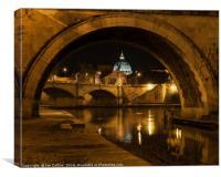 Through an Arch on the Tiber, Canvas Print