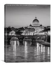 Black and White Sunset, Rome, Canvas Print