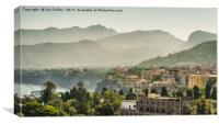 Hazy Summer Day in Sorrento, Canvas Print