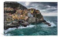 Stormy Early Morning in Manarola, Canvas Print