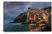 Twilight at Riomaggiore, Canvas Print
