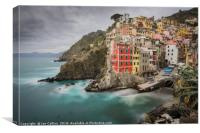 A Long Look at Riomaggiore, Canvas Print