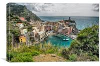 Looking Down on Vernazza, Canvas Print