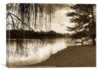Roath Park Lake(Cardiff)                          , Canvas Print