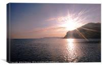 Sunrise Over Skopelos Town Harbour, Canvas Print
