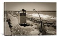 Glossa Beach On A Windy Day, Canvas Print