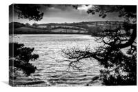 Malpus river, Truro, Cornwall., Canvas Print