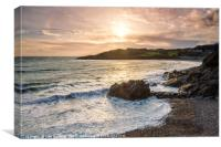 Rotherslade Bay, Gower, Canvas Print