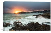 Langland Bay, Gower, Wales , Canvas Print