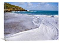 Foam Swirl - St Ives Beach, Canvas Print