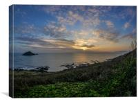 Last Rays - Wembury, Devon, Canvas Print